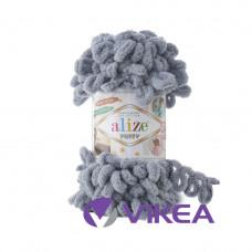 Alize Puffy 428 šedá