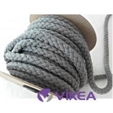 Bavlnená šnúra 8,8mm šedá tmavá
