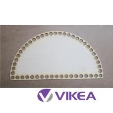 Drevené dno na košík pol kruh 25x13 cm