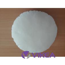 Vankúš okrúhly -  biela bavlna, 30cm