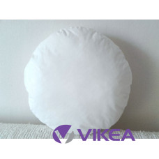 Vankúš okrúhly - biela bavlna, priemer 28cm
