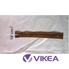 Zips hnedý 18 cm